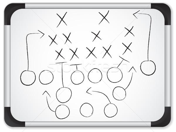 Vector - Teamwork Football Game Plan Strategy on Whiteboard Stock photo © gubh83