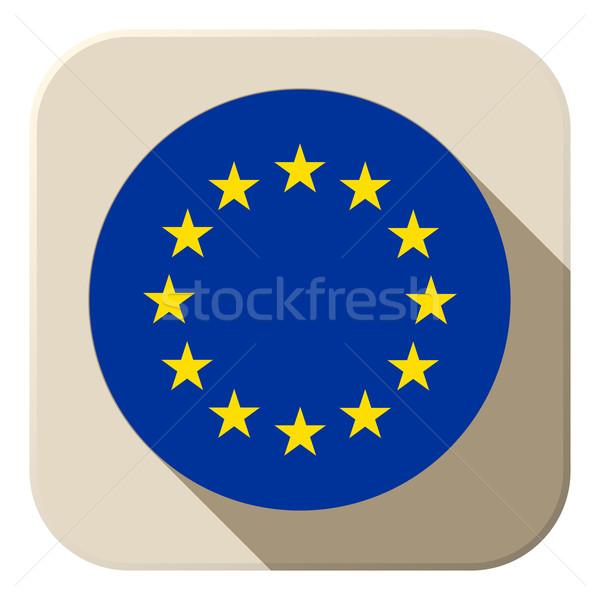 Zdjęcia stock: Europie · banderą · przycisk · ikona · nowoczesne · wektora