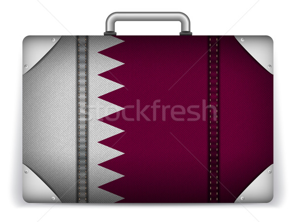 Qatar Travel Luggage with Flag for Vacation Stock photo © gubh83