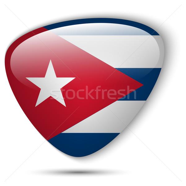 Cuba Flag Glossy Button Stock photo © gubh83