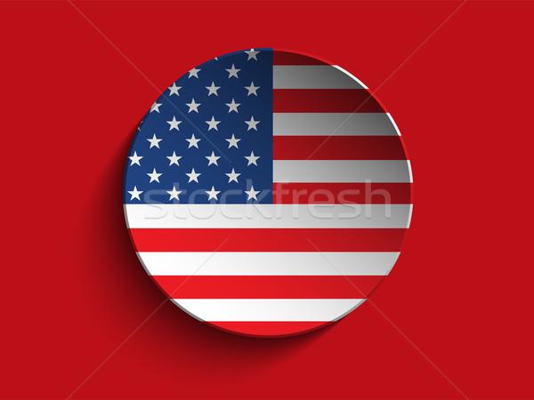 USA zászló papír kör árnyék gomb Stock fotó © gubh83