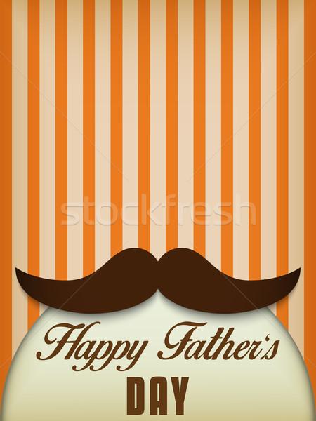 Gelukkig vader dag snor liefde vector Stockfoto © gubh83