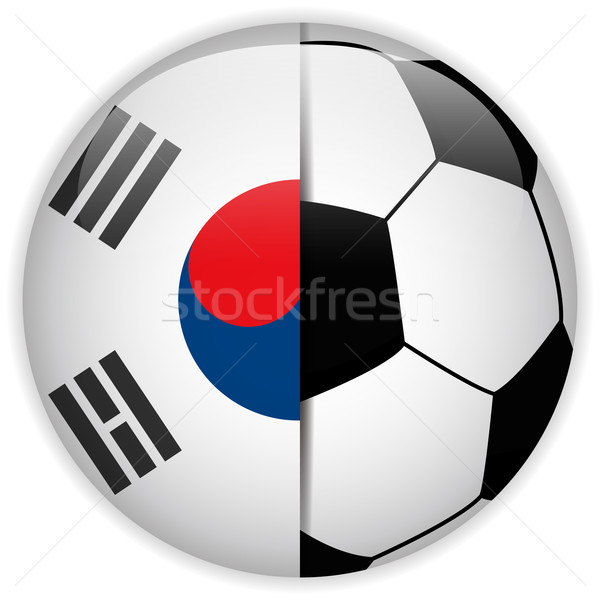 South Korea Flag with Soccer Ball Background Stock photo © gubh83