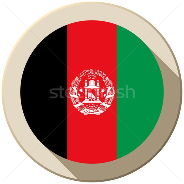 Afghanistan vlag knop icon moderne vector Stockfoto © gubh83