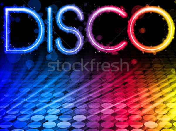 Stockfoto: Disco · abstract · kleurrijk · golven · zwarte · vector