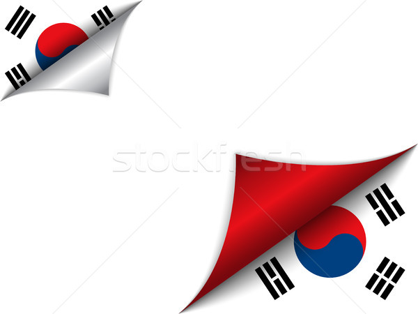 South Korea Country Flag Turning Page Stock photo © gubh83