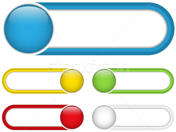 Glossy web buttons with colored bars. Stock photo © gubh83