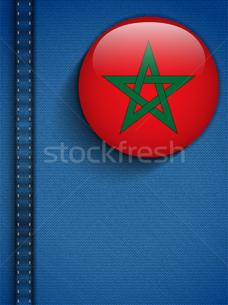 Morocco Flag Button in Jeans Pocket Stock photo © gubh83