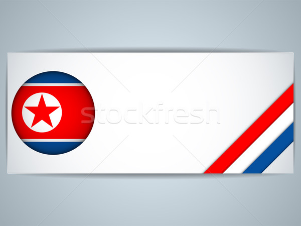 North Korea Country Set of Banners Stock photo © gubh83