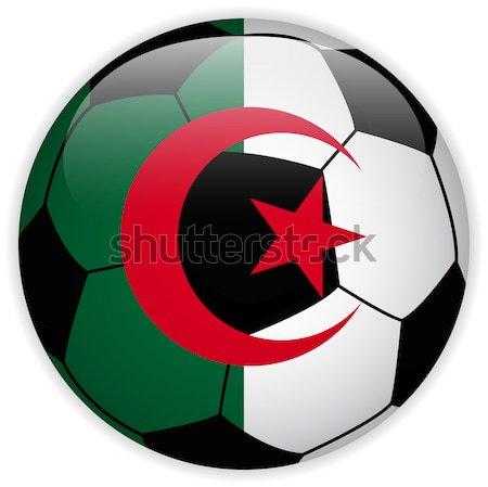 Algérie pavillon ballon vecteur monde football Photo stock © gubh83