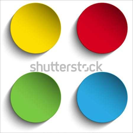 Ayarlamak renkli kâğıt daire etiket düğmeler Stok fotoğraf © gubh83
