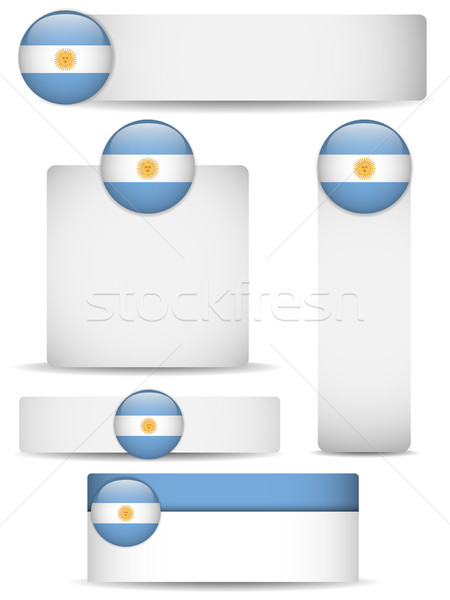 Argentina país conjunto banners vetor negócio Foto stock © gubh83
