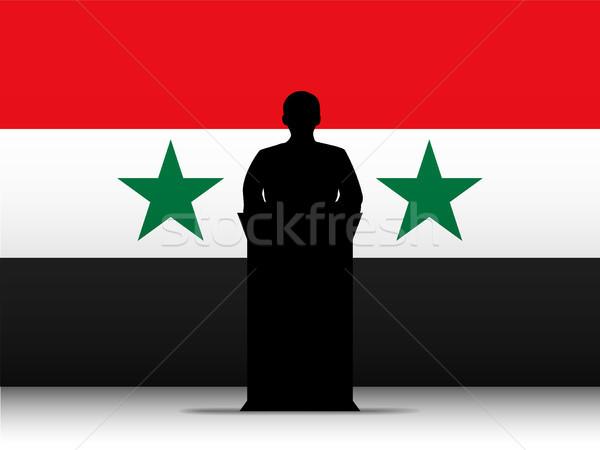シリア 音声 シルエット フラグ ベクトル 男 ストックフォト © gubh83