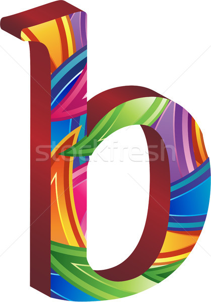 Colored alphabet with spikes and leaves Stock photo © gubh83