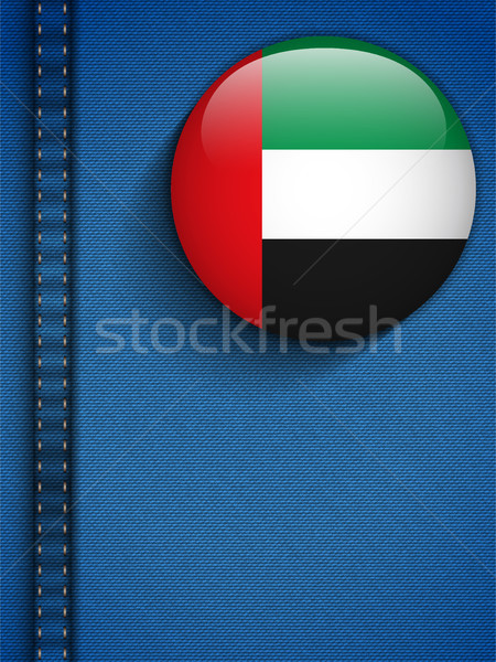 United Arab Emirates Flag Button in Jeans Pocket Stock photo © gubh83