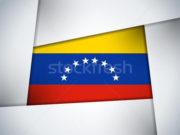 Venezuela Country Flag Geometric Background Stock photo © gubh83