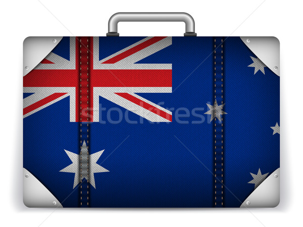 Australia Travel Luggage with Flag for Vacation Stock photo © gubh83