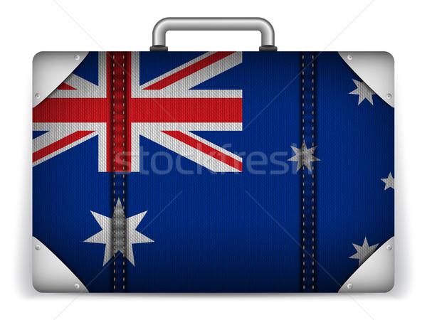 Avustralya seyahat bagaj bayrak tatil vektör Stok fotoğraf © gubh83