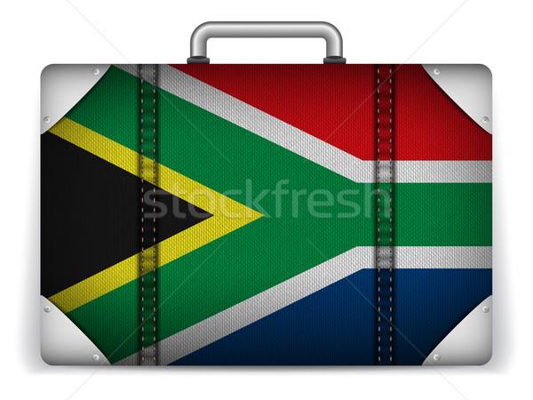 Foto stock: África · do · Sul · viajar · bagagem · bandeira · férias · vetor
