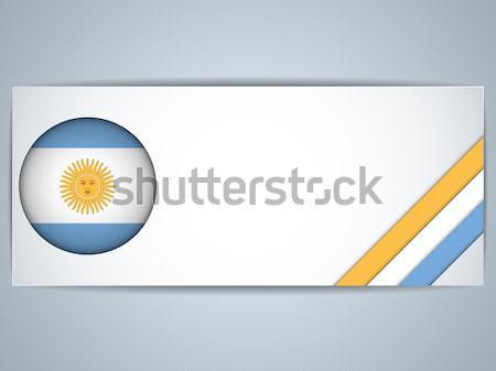 Argentína vidék zászló oldal vektor felirat Stock fotó © gubh83