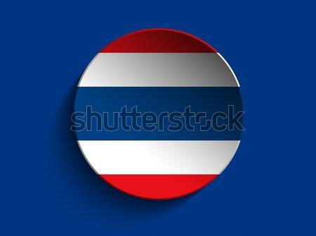Banderą papieru kółko cień przycisk Tajlandia Zdjęcia stock © gubh83