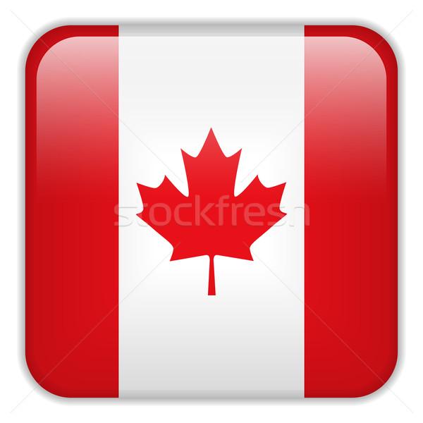 Canadá bandeira aplicação praça botões Foto stock © gubh83