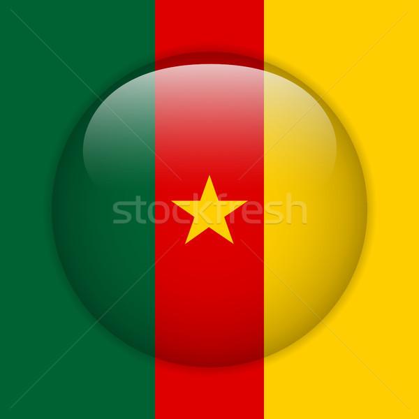 Kameroen vlag glanzend knop vector glas Stockfoto © gubh83
