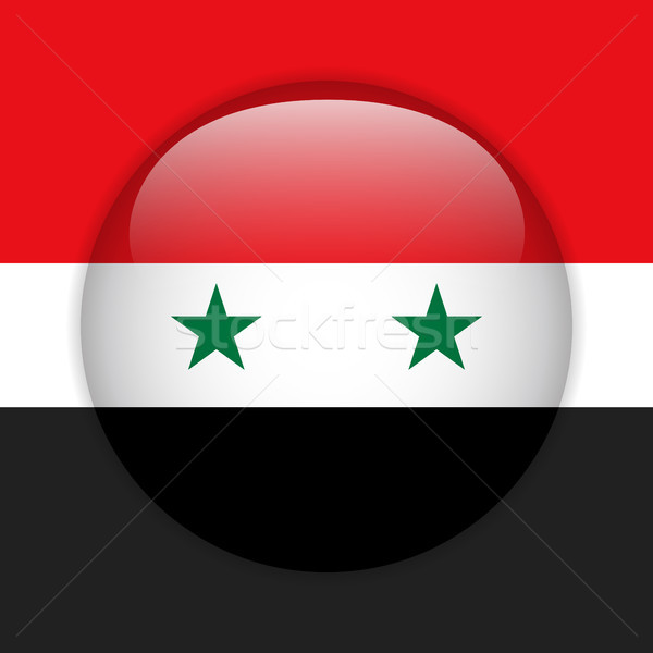 Syrië vlag glanzend knop vector glas Stockfoto © gubh83