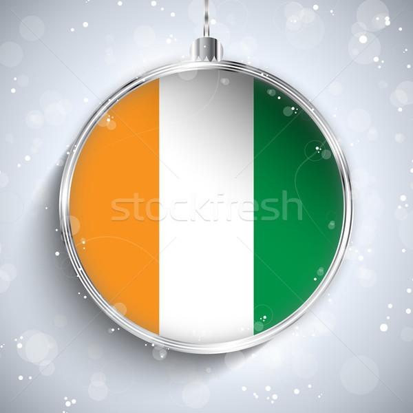 Foto stock: Alegre · Navidad · plata · pelota · bandera · Irlanda