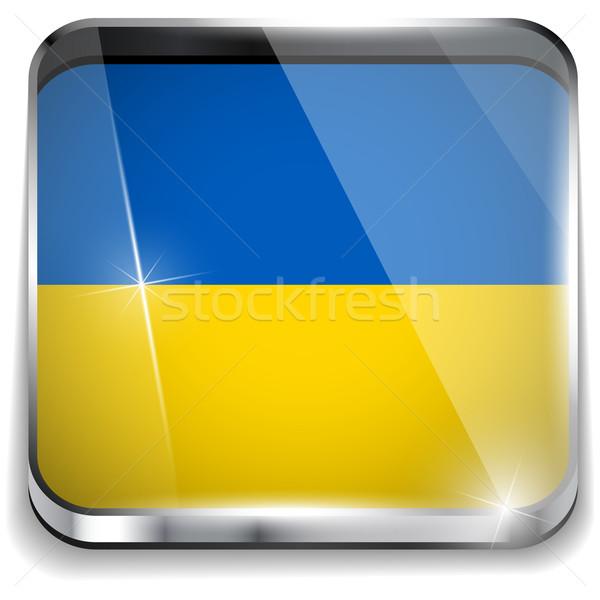 Ukraine Flag Smartphone Application Square Buttons Stock photo © gubh83