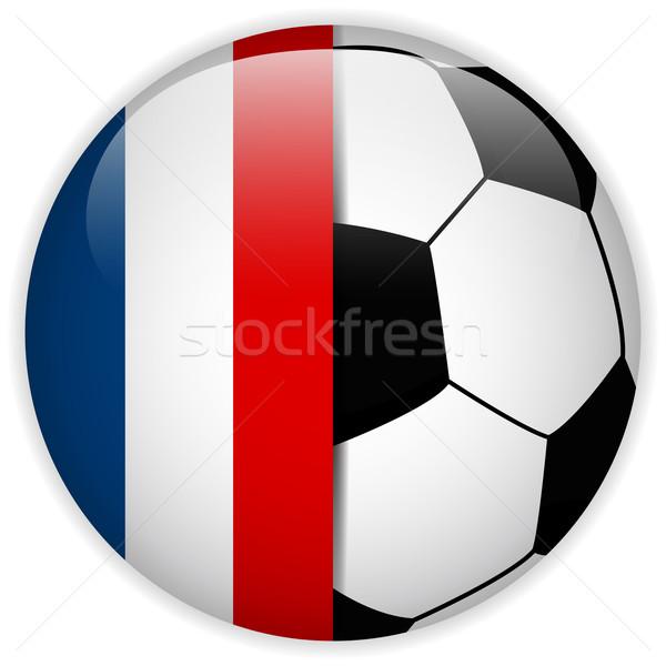 フランス フラグ サッカーボール ベクトル 世界 サッカー ストックフォト © gubh83