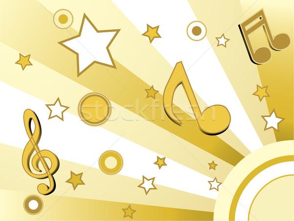 Stock fotó: Csillagok · körök · arany · retro · divat · absztrakt