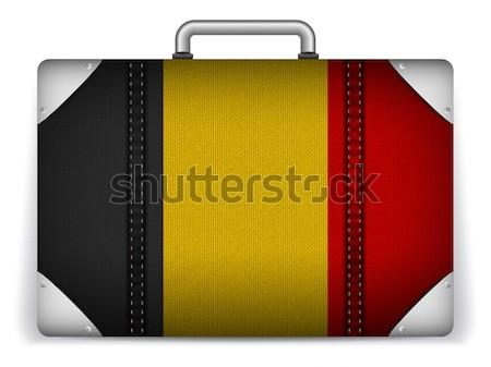 Finlandia podróży bagażu banderą wakacje wektora Zdjęcia stock © gubh83