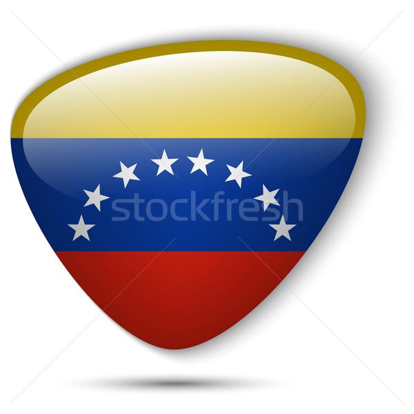 Venezuela zászló fényes gomb vektor üveg Stock fotó © gubh83