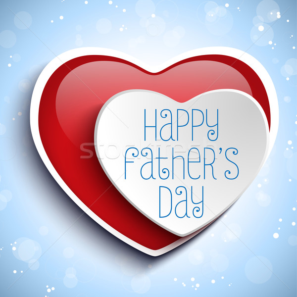 Happy Fathers Day Red Heart Background Stock photo © gubh83