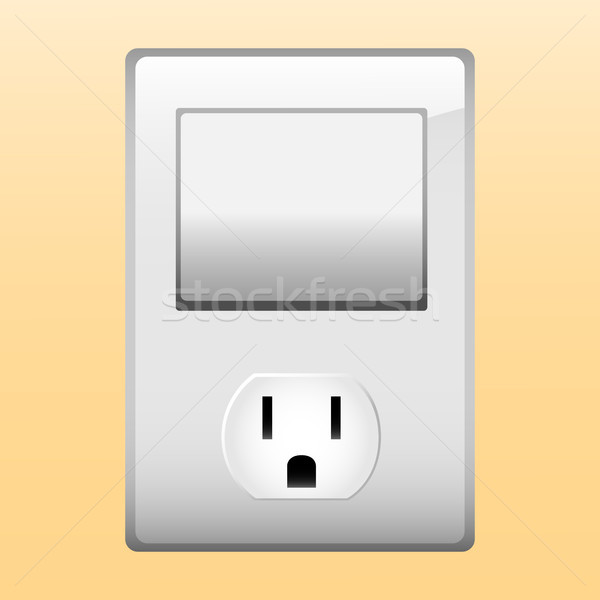 Electric outlet and light switch. Stock photo © gubh83
