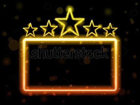 Star Neon Movie Sign With Copyspace Stock photo © gubh83