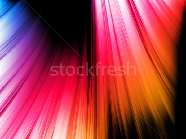 Soyut renkli dalgalar siyah vektör doku Stok fotoğraf © gubh83