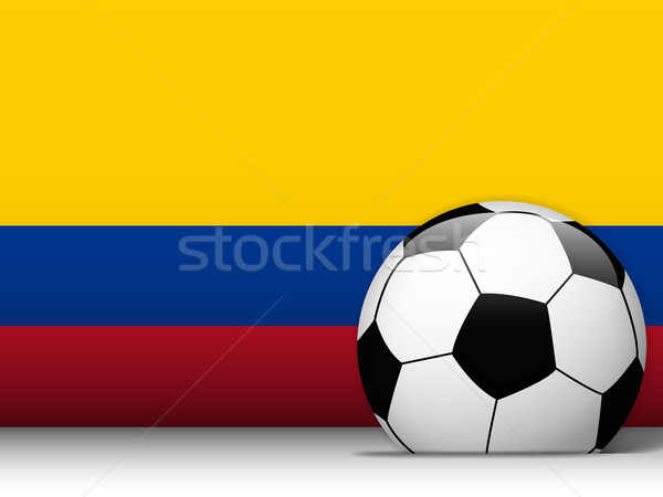 Colombia Soccer Ball with Flag Background Stock photo © gubh83
