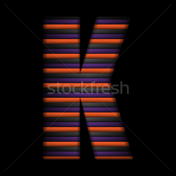 Halloween Alphabet Letters Stripe Black Orange Purple Vector Stock photo © gubh83