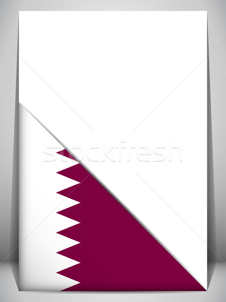 Катар стране флаг страница дизайна знак Сток-фото © gubh83