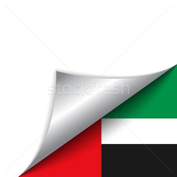 Emirates Country Flag Turning Page Stock photo © gubh83