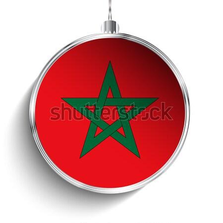 陽気な クリスマス 銀 ボール フラグ モロッコ ストックフォト © gubh83
