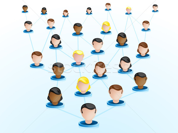 Crowdsourcing ağ simgeler vektör iş Internet Stok fotoğraf © gubh83