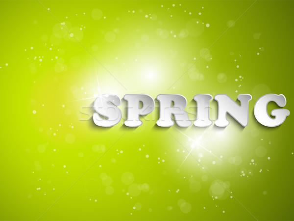 Green Spring Background With Light Stock photo © gubh83