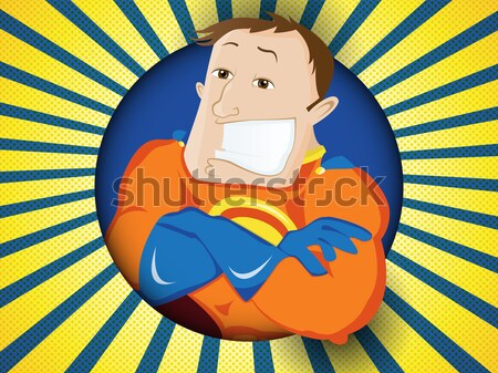Super Hero Dad. Happy Fathers Day Stock photo © gubh83