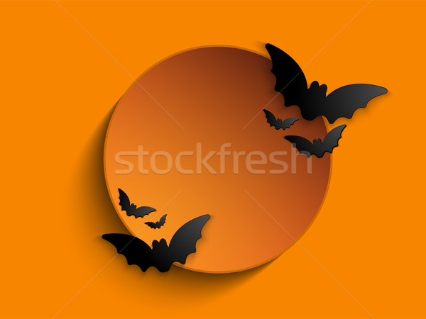 Heureux halloween fantôme bat icône chat Photo stock © gubh83