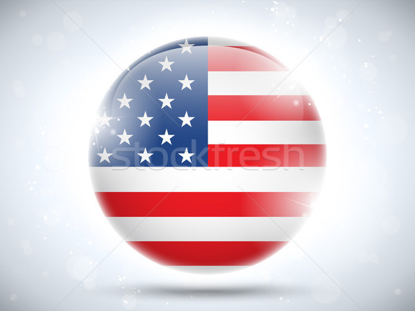 United States Flag Glossy Button Stock photo © gubh83