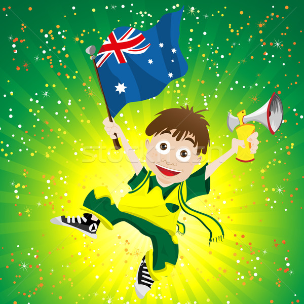 Australia Sport Fan with Flag and Horn Stock photo © gubh83