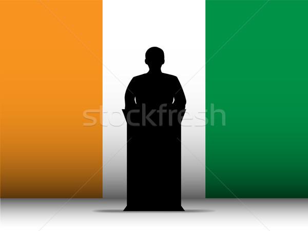 Irlanda discurso silueta bandera vector hombre Foto stock © gubh83